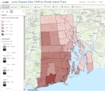 Rhode Island Towns Lyme Disease Rate 1998