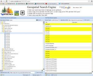WWETAC Geospatial Search Engine
