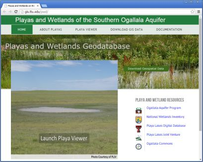 Southern Ogallala Aquifer Playa and Wetlands Geodatabase