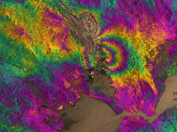 Napa Valley Quake interferogram