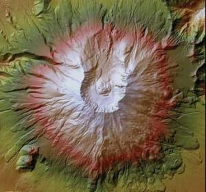 High-resolution lidar image of Mount St. Helens, Washington