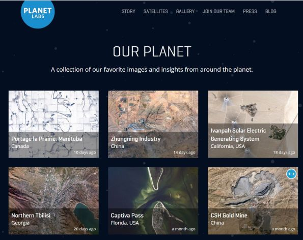 Planet Labs:  Imagery and its democratization
