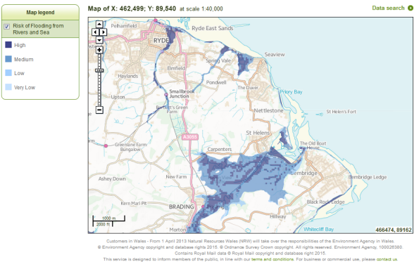 Risk of Flooding from Rivers and Sea