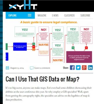Nicholas Duggan's article and flowchart to help GIS users decide if they can use a data set.