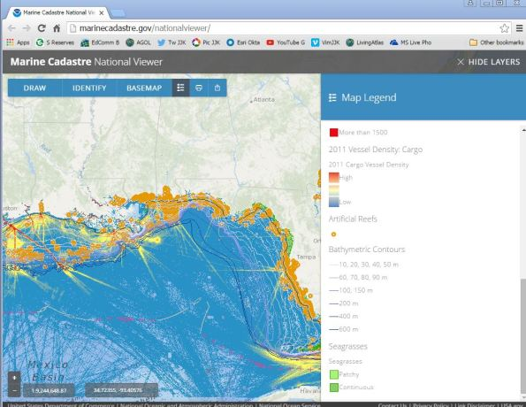 The Marine Cadastre Data Viewer and Portal.