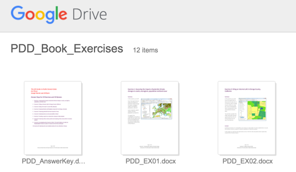 PDD Exercises on Google Drive